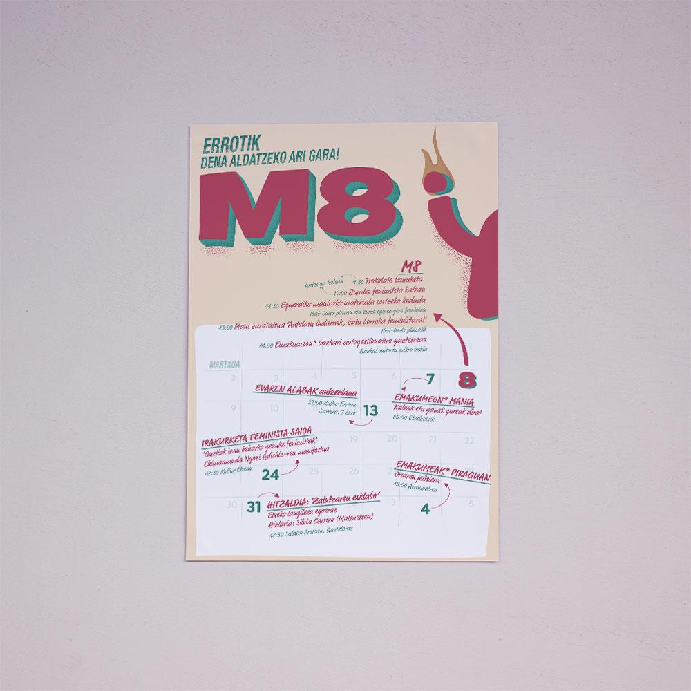 M8 kanpaina egitarau bateratua kartela